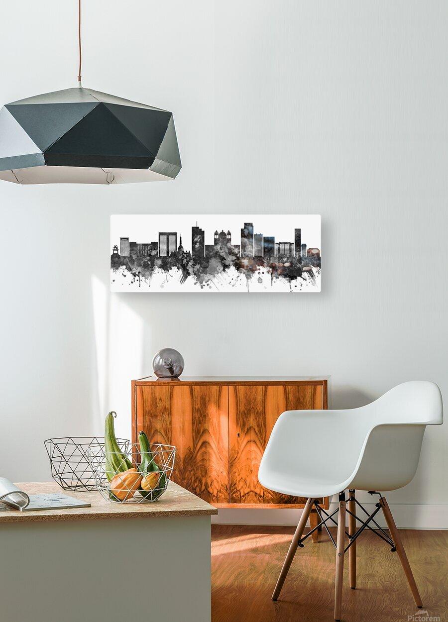San Salvador Skyline  HD Metal print with Floating Frame on Back
