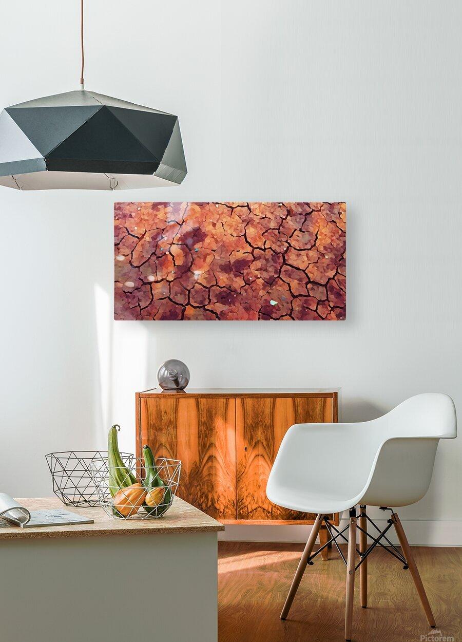 high end rocks art  HD Metal print with Floating Frame on Back