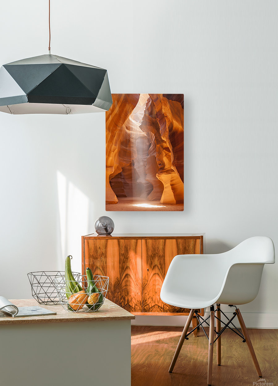 Beautiful Antelope Canyon  HD Metal print with Floating Frame on Back