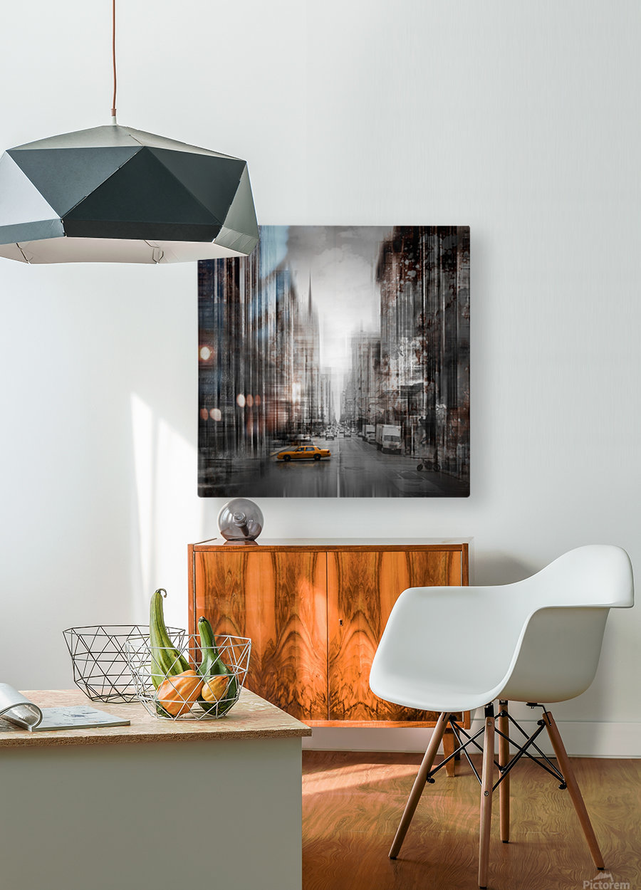 City-Art NYC 5th Avenue  HD Metal print with Floating Frame on Back