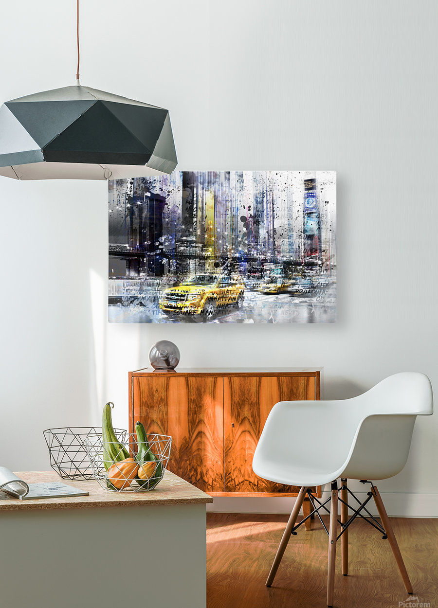 City-Art NYC Collage  HD Metal print with Floating Frame on Back