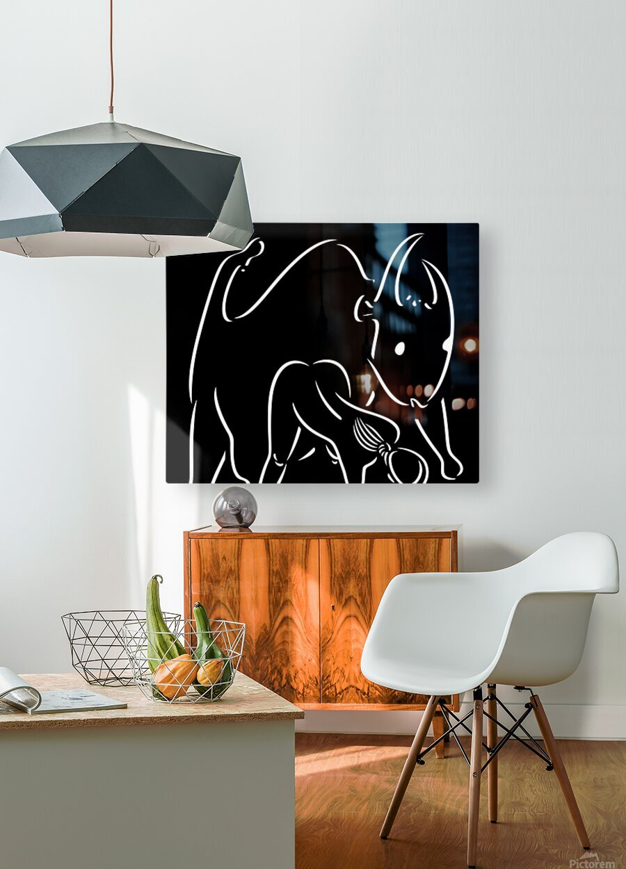 Pasiphae and the Bull  HD Metal print with Floating Frame on Back