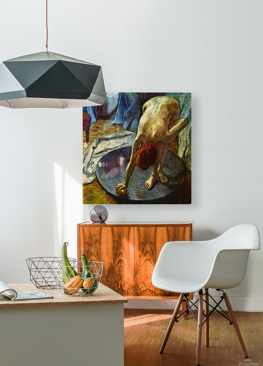 The Tub by Degas  HD Metal print with Floating Frame on Back