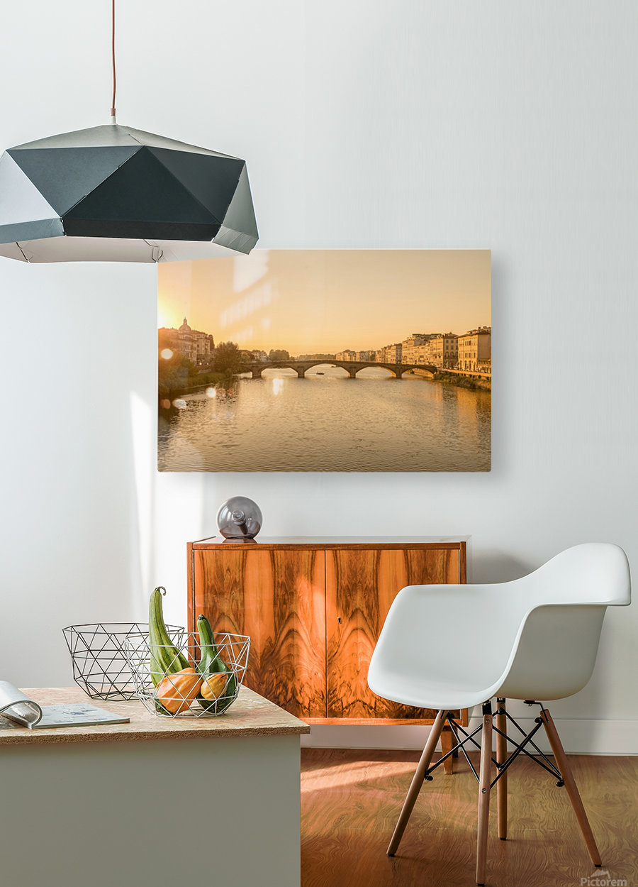 Florence  HD Metal print with Floating Frame on Back