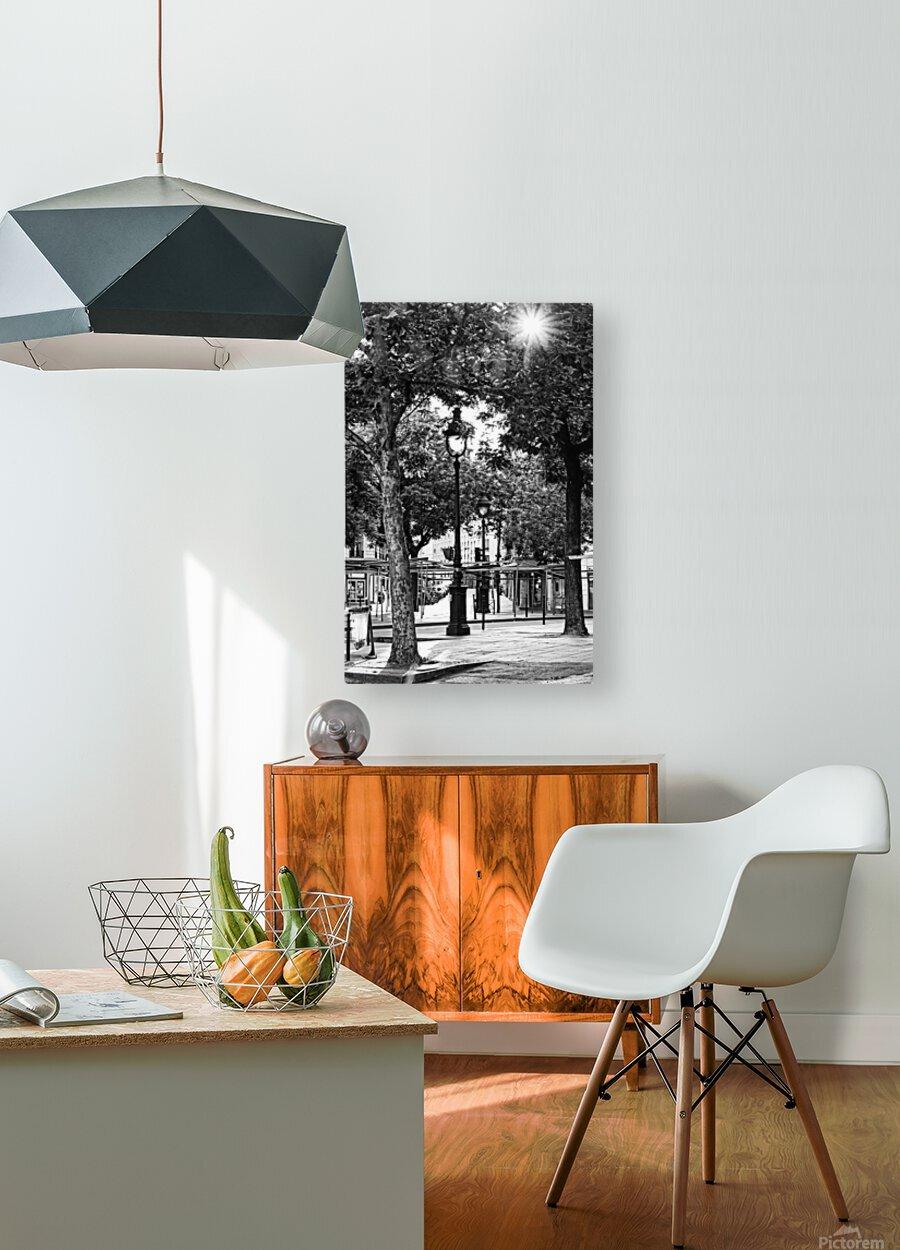 Richard Lenoir boulevard  Impression métal HD avec cadre flottant sur le dos