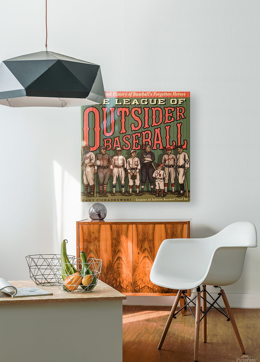 League of Outsider Baseball  HD Metal print with Floating Frame on Back