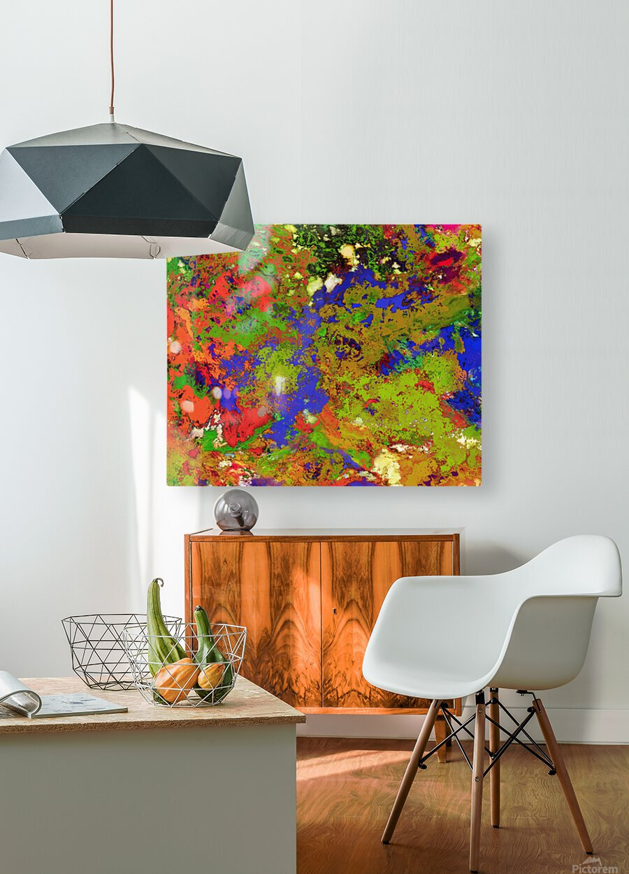 A returning thought  HD Metal print with Floating Frame on Back