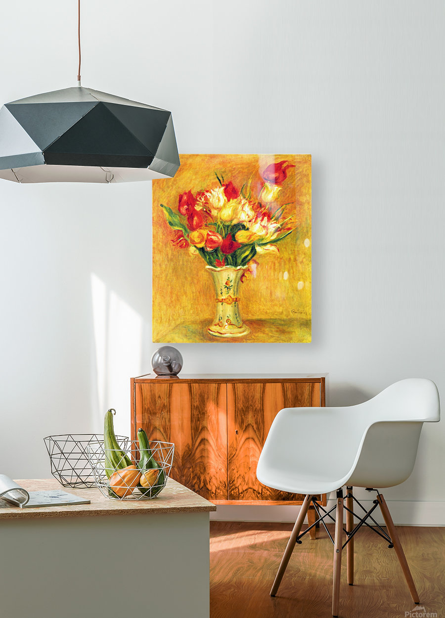 Tulips in a Vase  HD Metal print with Floating Frame on Back