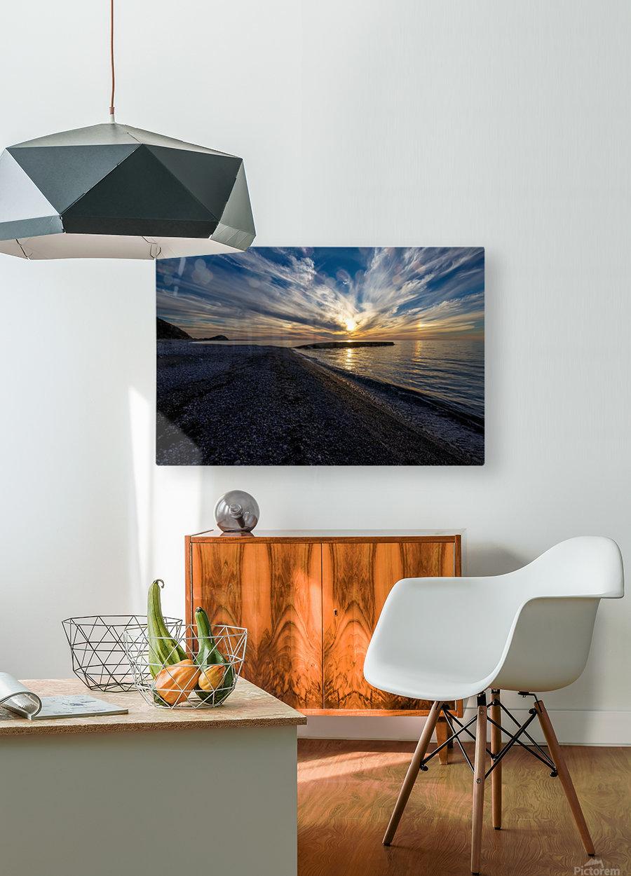 La Bloc Sunset  HD Metal print with Floating Frame on Back