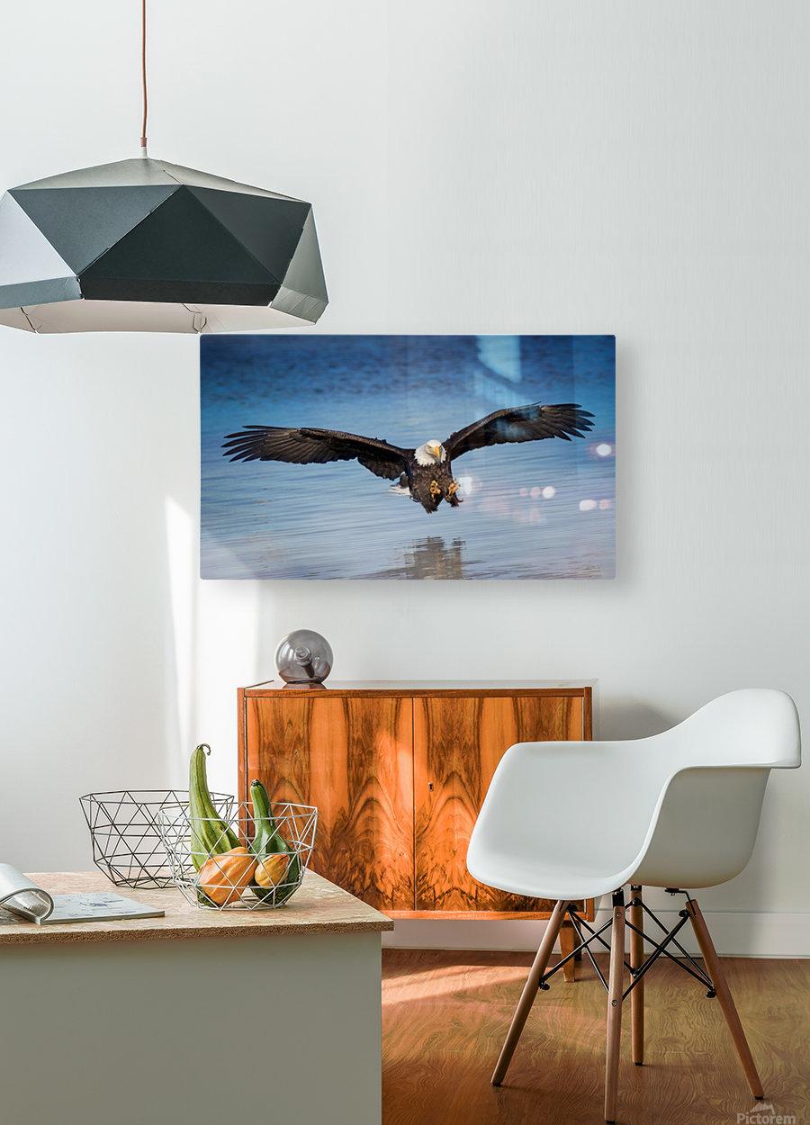 Inbound  HD Metal print with Floating Frame on Back
