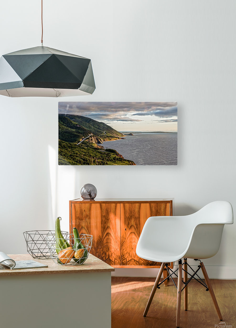 Summer on the Cabot Trail  HD Metal print with Floating Frame on Back