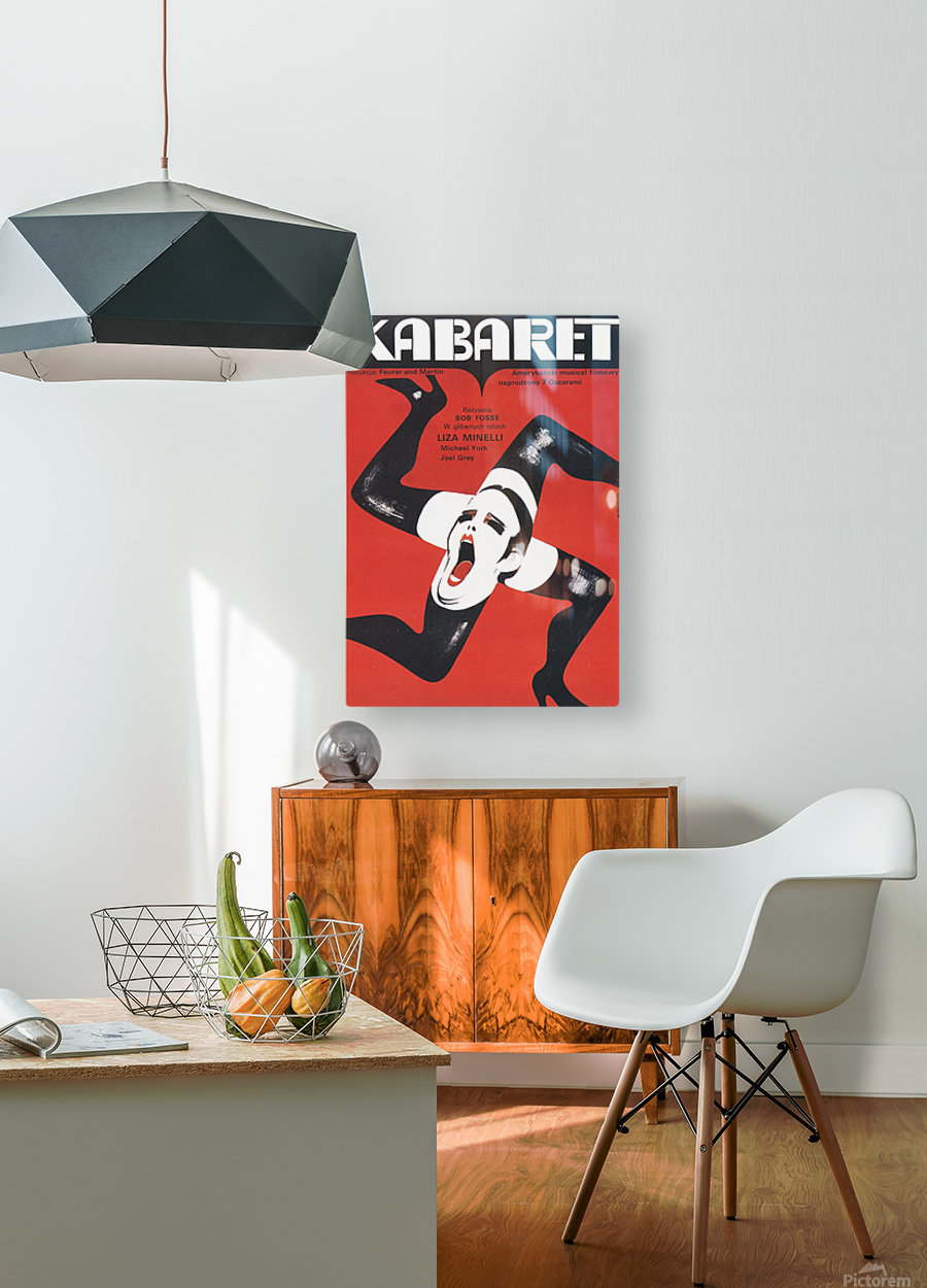 Polish Film Poster Cabaret Wiktor Gorka  HD Metal print with Floating Frame on Back
