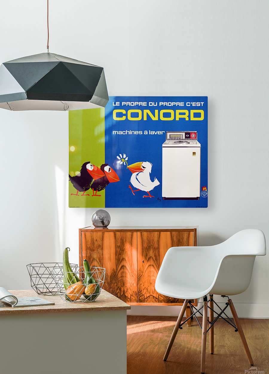 Original Appliance Poster, Conord Birds, 1960  HD Metal print with Floating Frame on Back