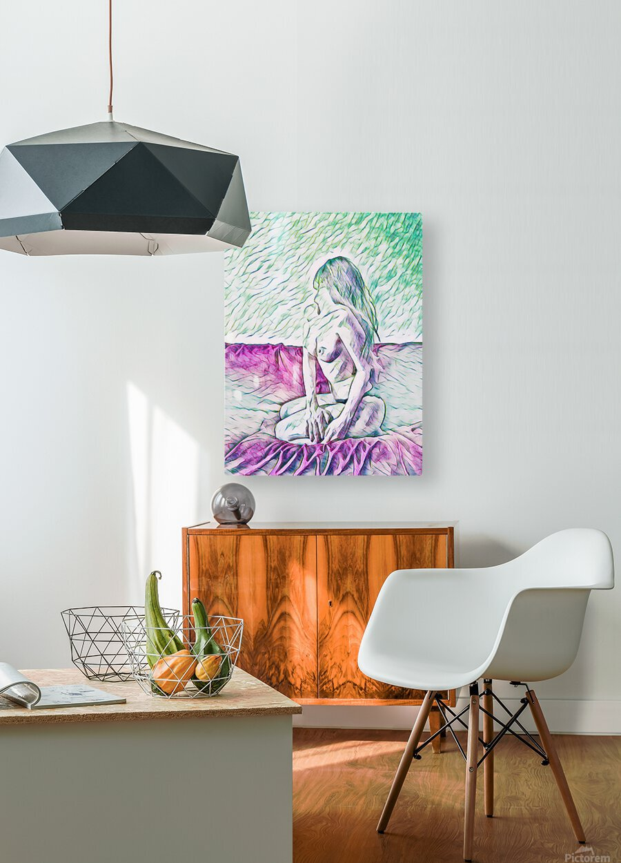 girl  HD Metal print with Floating Frame on Back