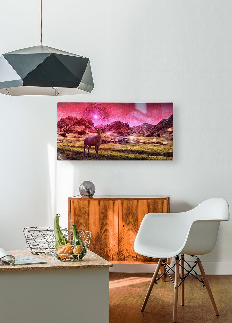 Eikthyrnir  HD Metal print with Floating Frame on Back