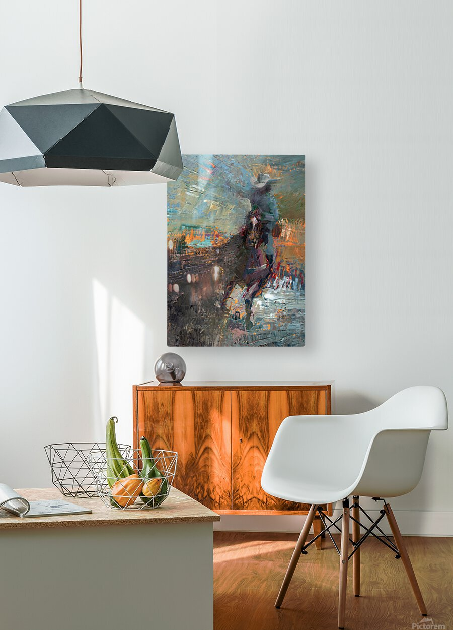 Wild Wild West  HD Metal print with Floating Frame on Back