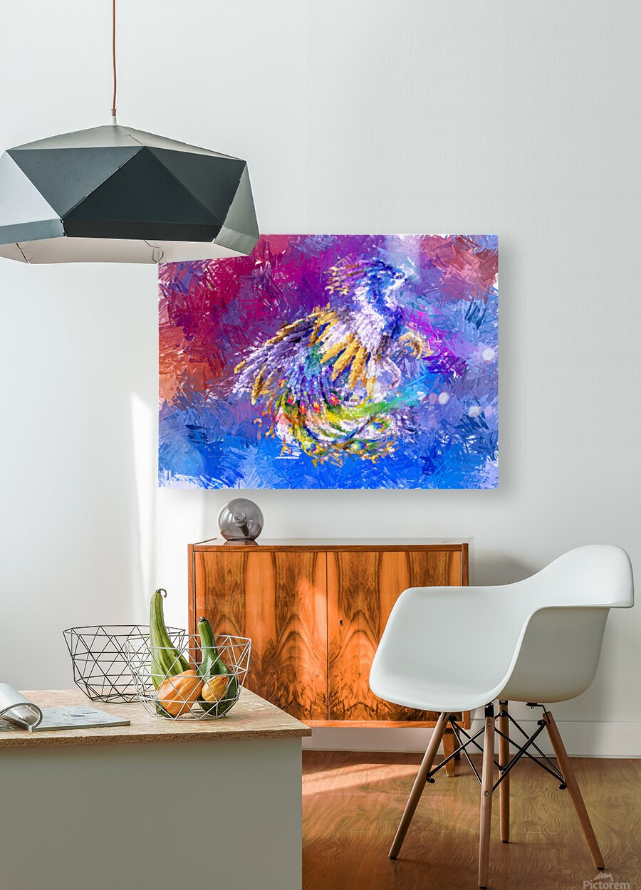 Fenix  HD Metal print with Floating Frame on Back