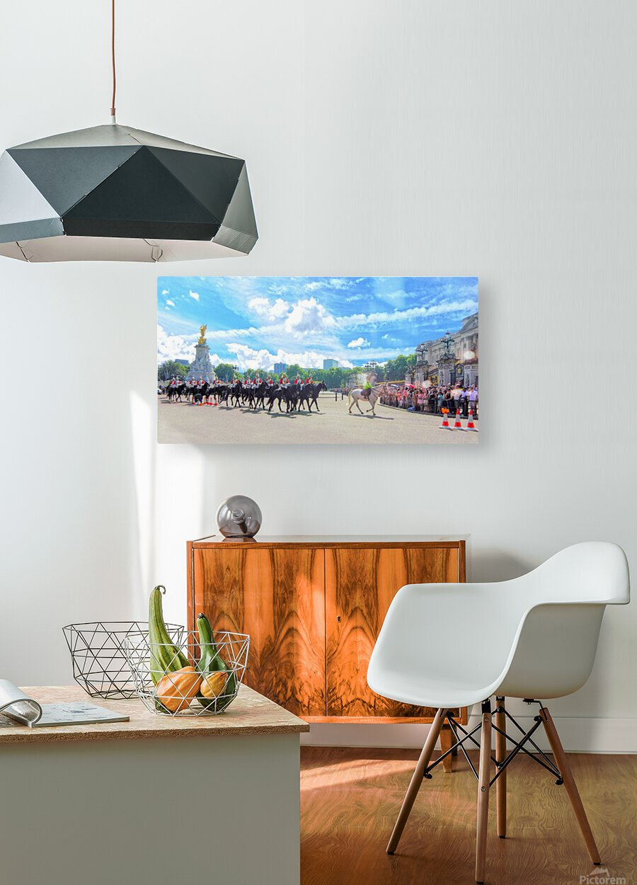 Changing of the Guard London United Kingdom  HD Metal print with Floating Frame on Back