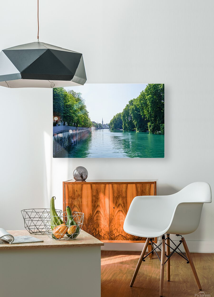 Snapshot in Time Zurich in Summer 1 of 6  HD Metal print with Floating Frame on Back
