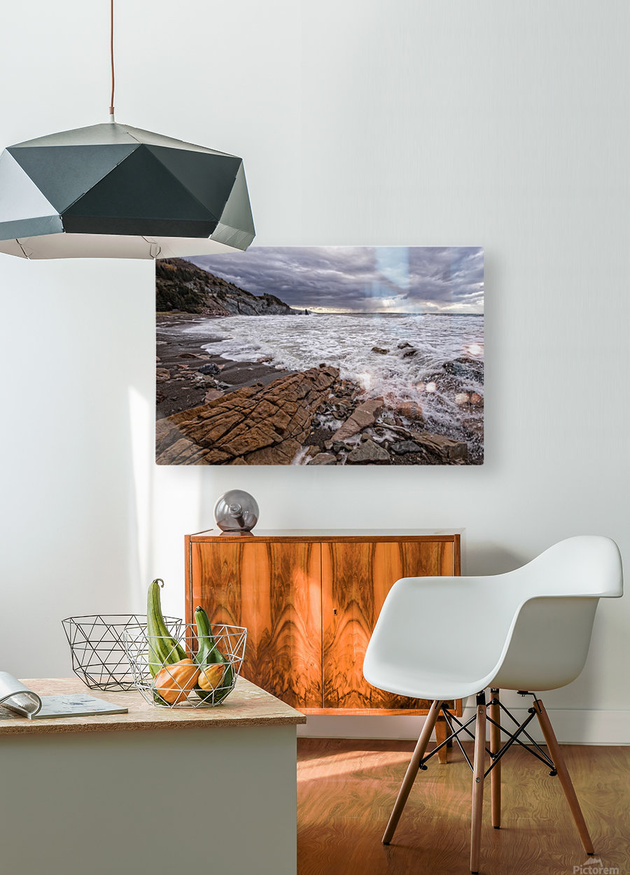 Surf at Pillar Rock  HD Metal print with Floating Frame on Back