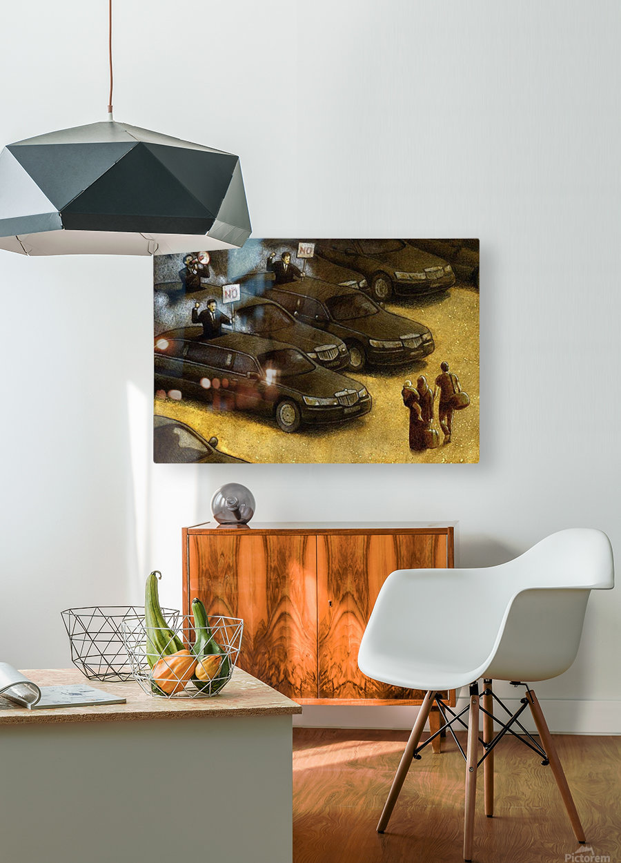 unrest  HD Metal print with Floating Frame on Back