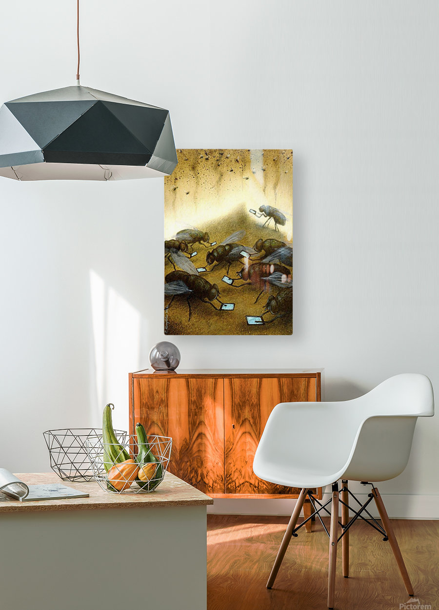 warm news  HD Metal print with Floating Frame on Back