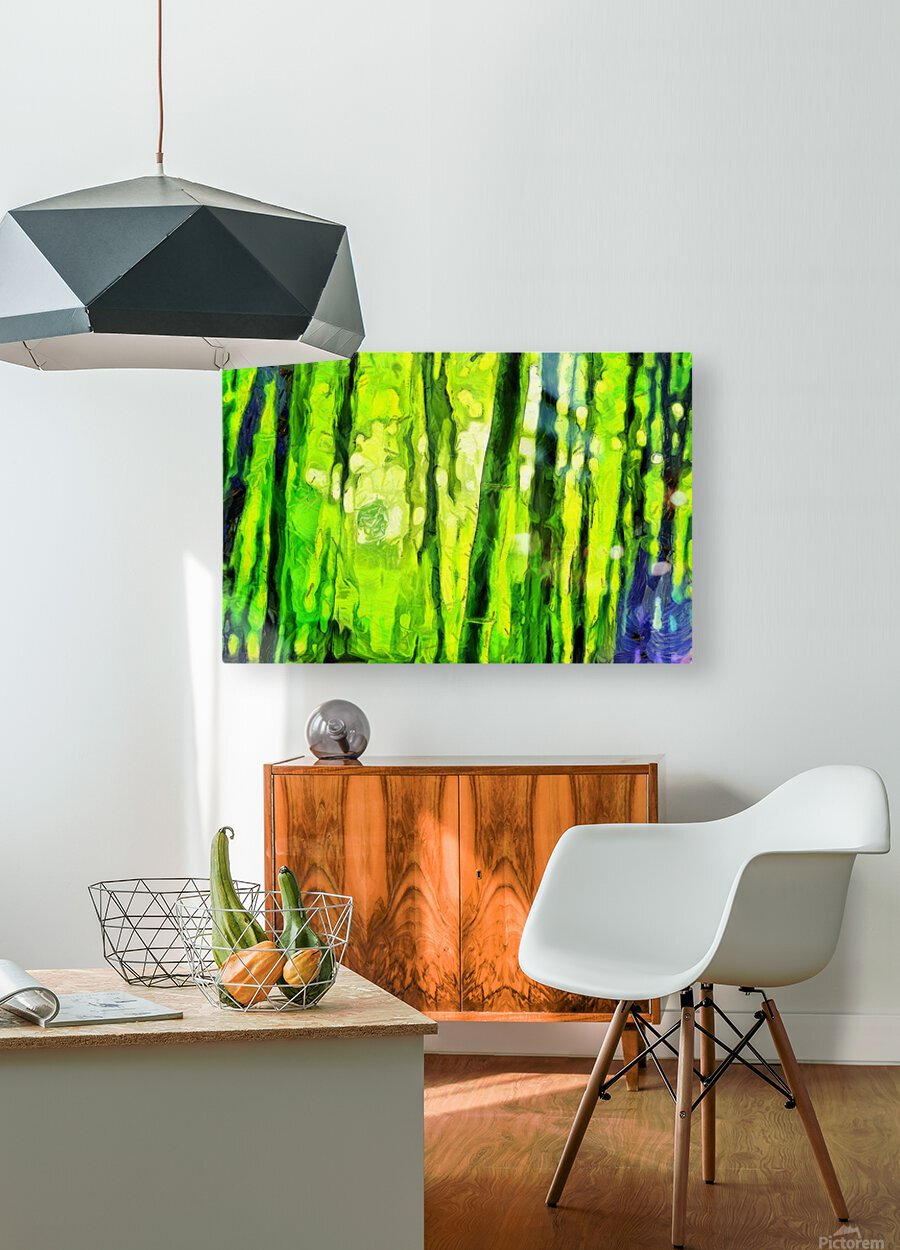 Bamboo forest oil painting inVincent Willem van Goghstyle. 3.   HD Metal print with Floating Frame on Back