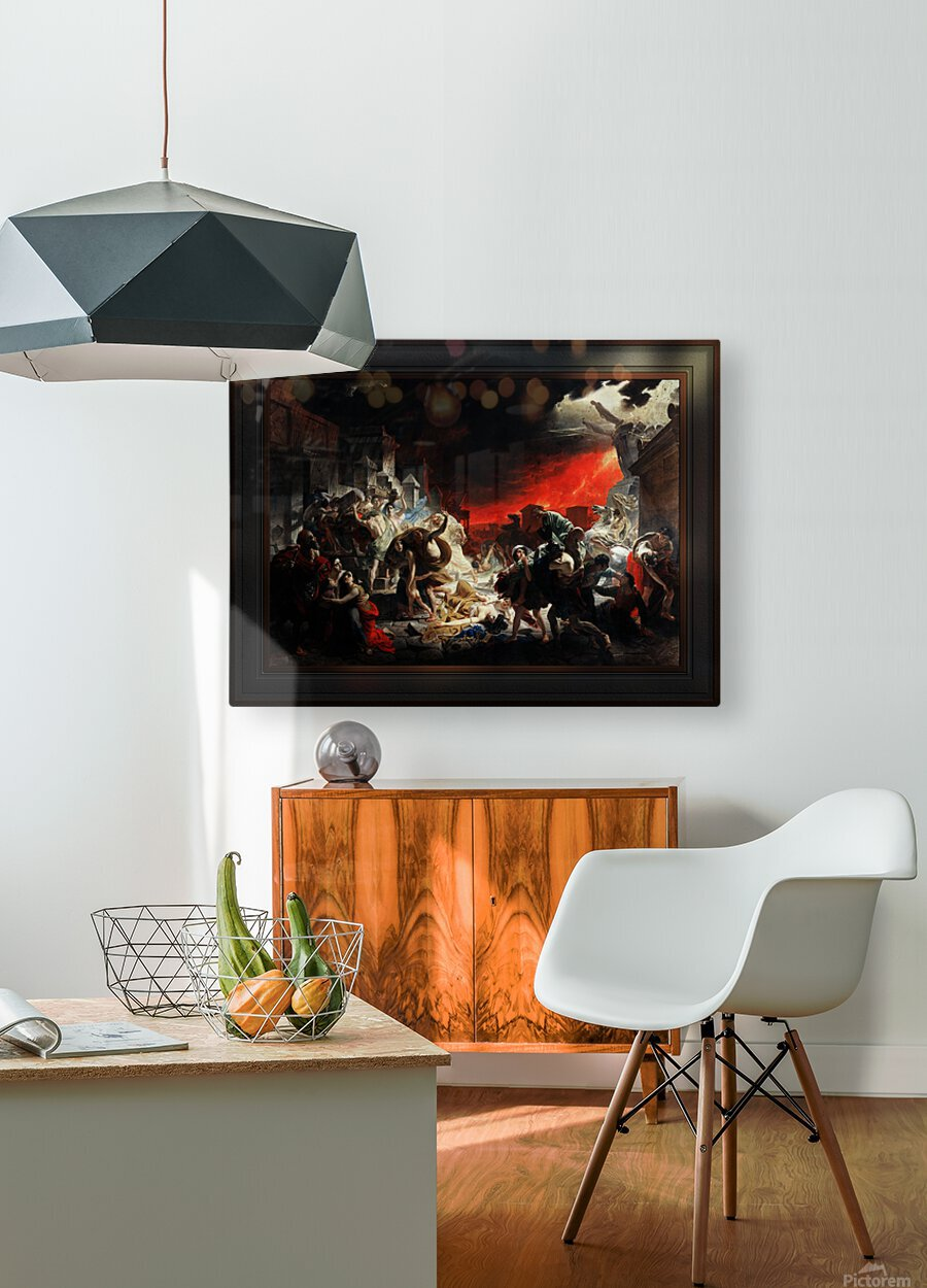 The Last Day of Pompeii by Karl Bryullov Classical Fine Art Xzendor7 Old Masters Reproductions  HD Metal print with Floating Frame on Back