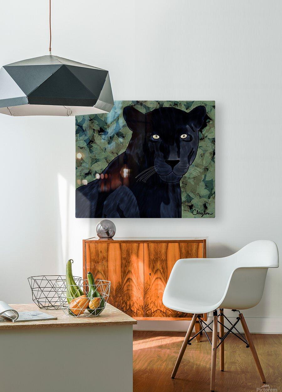Black Jaguar. Clayton T  HD Metal print with Floating Frame on Back