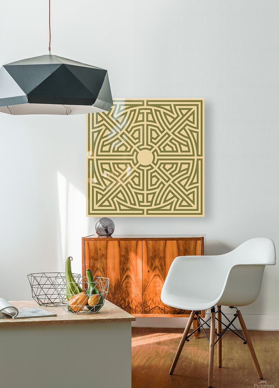 Labyrinth 6002  HD Metal print with Floating Frame on Back