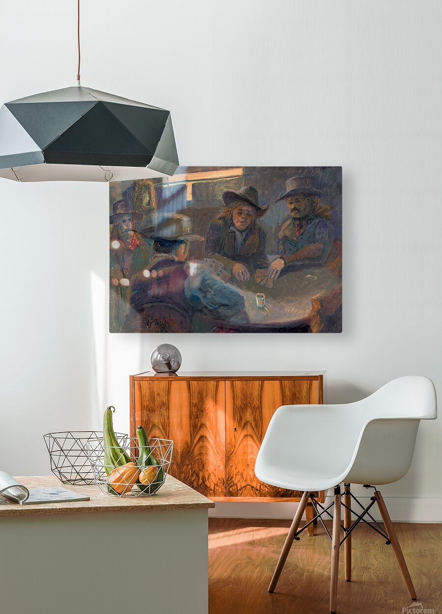 Poker Face  HD Metal print with Floating Frame on Back