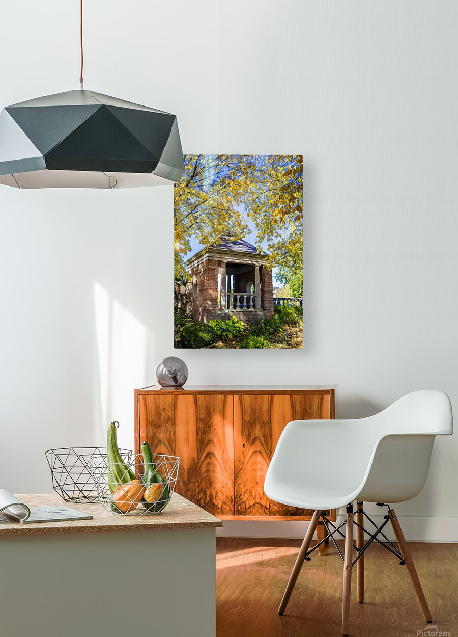 Shelter in the Fall  HD Metal print with Floating Frame on Back