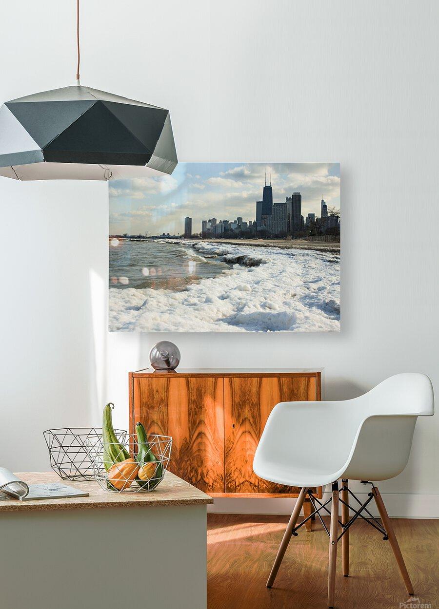 Lake Michigan  HD Metal print with Floating Frame on Back