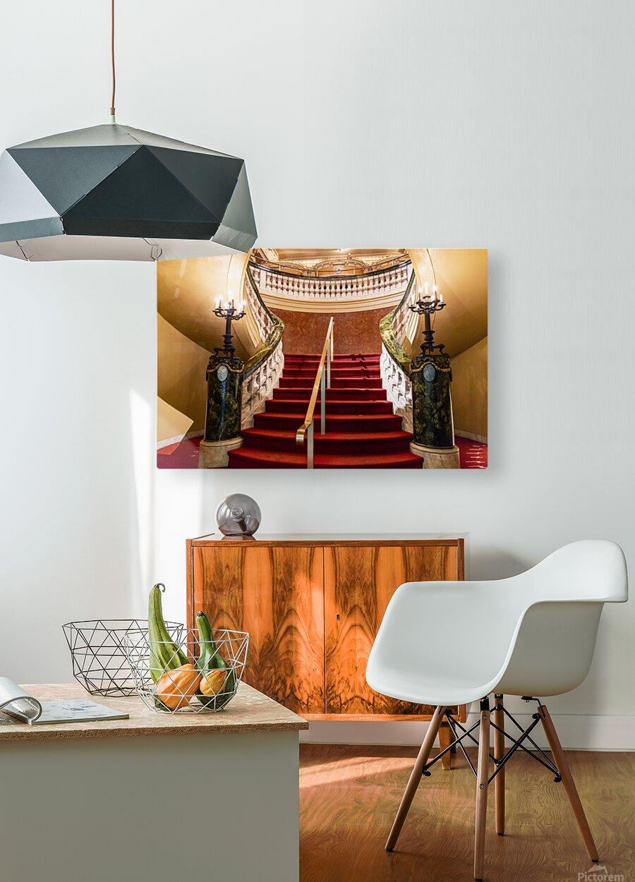 Elegents   HD Metal print with Floating Frame on Back