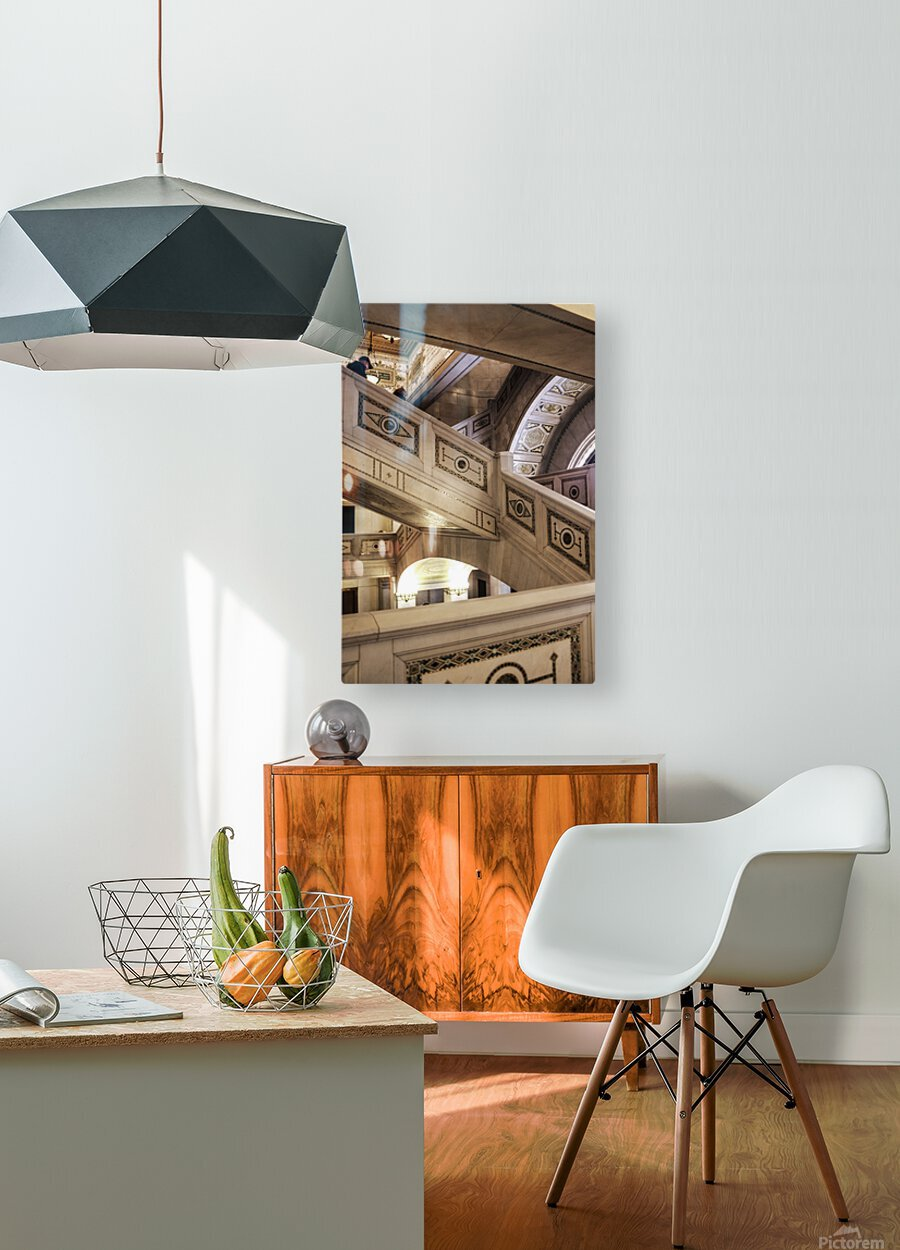 A Painting of Stairs  HD Metal print with Floating Frame on Back