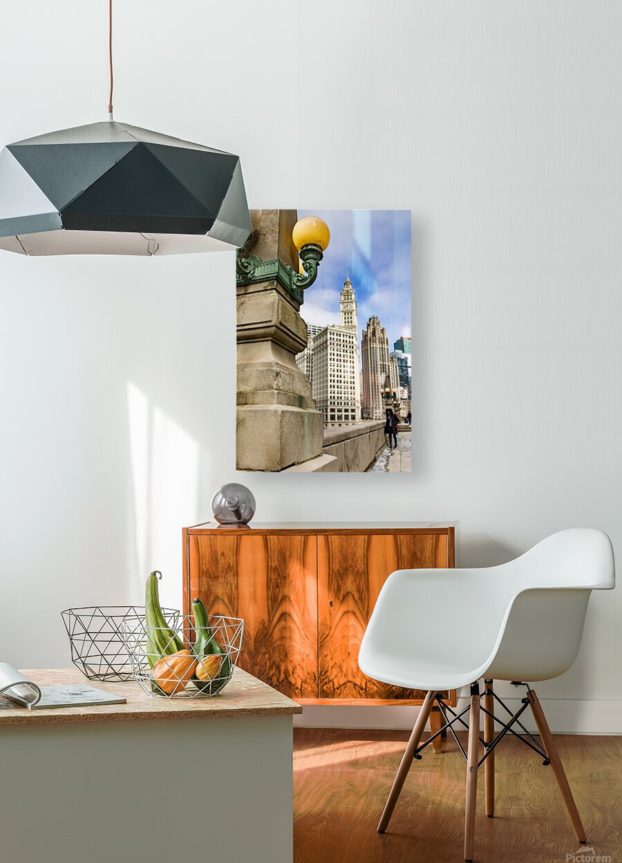 Looking into the River  HD Metal print with Floating Frame on Back