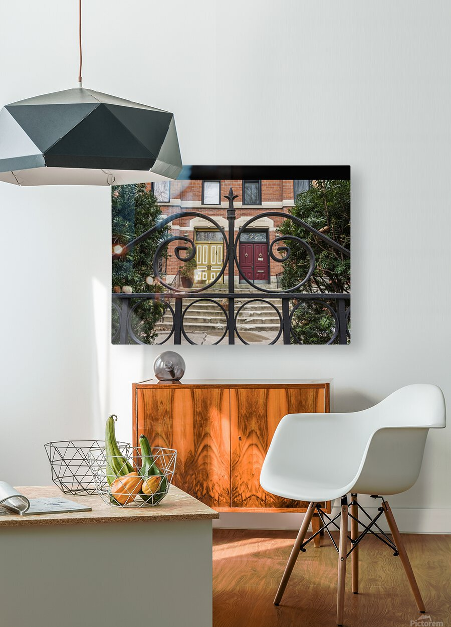 Two Neighbors  HD Metal print with Floating Frame on Back