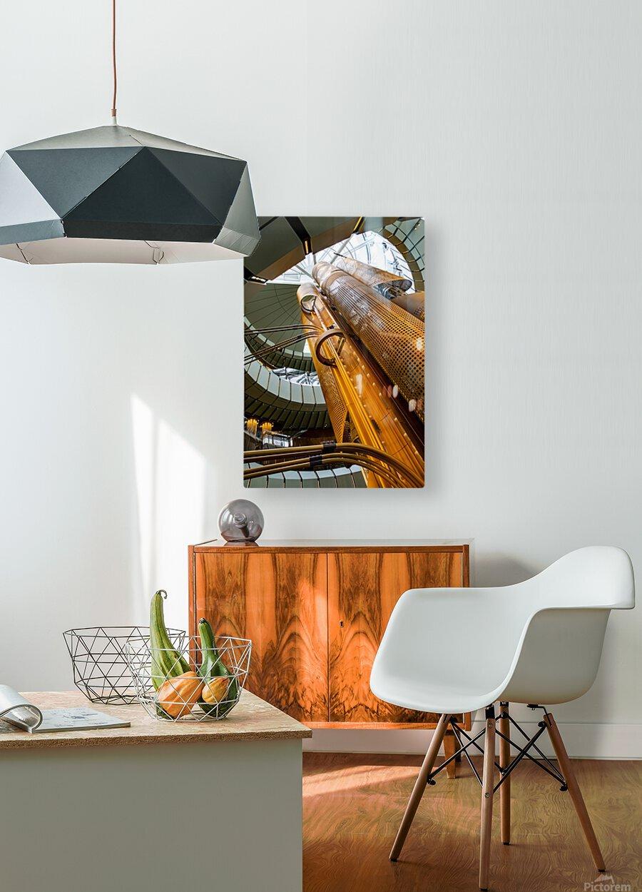 Metal Stacks  HD Metal print with Floating Frame on Back