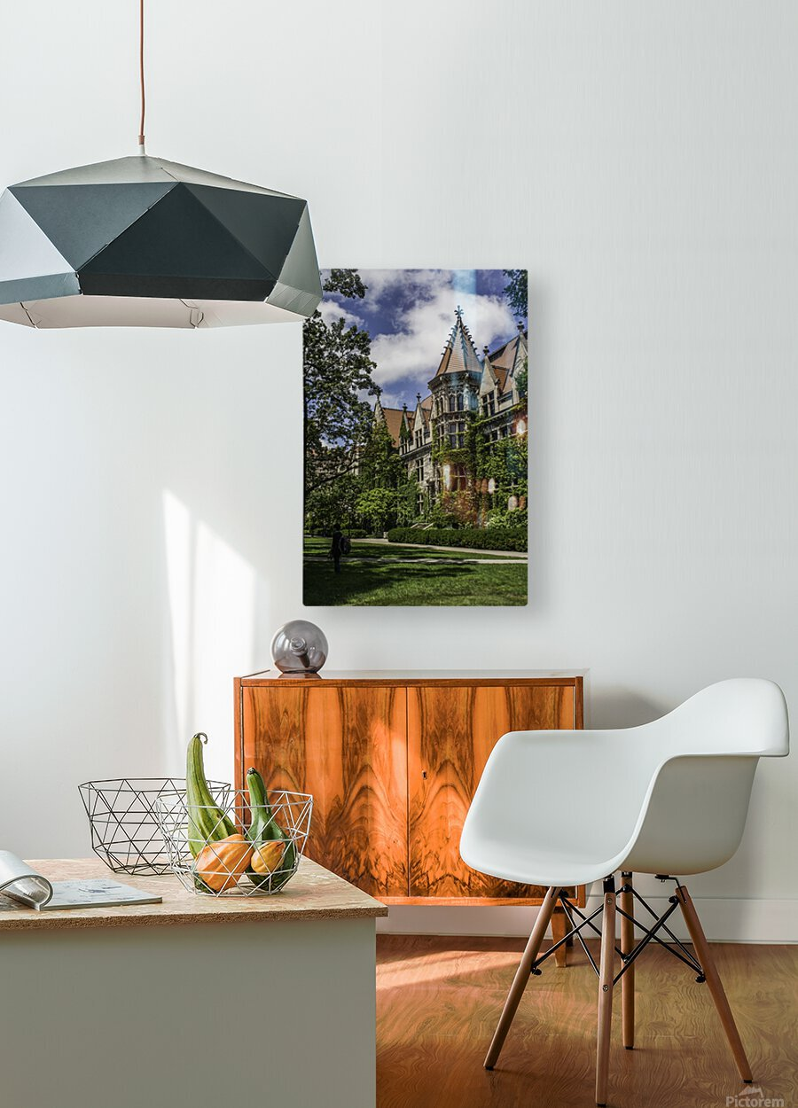 College Green  HD Metal print with Floating Frame on Back