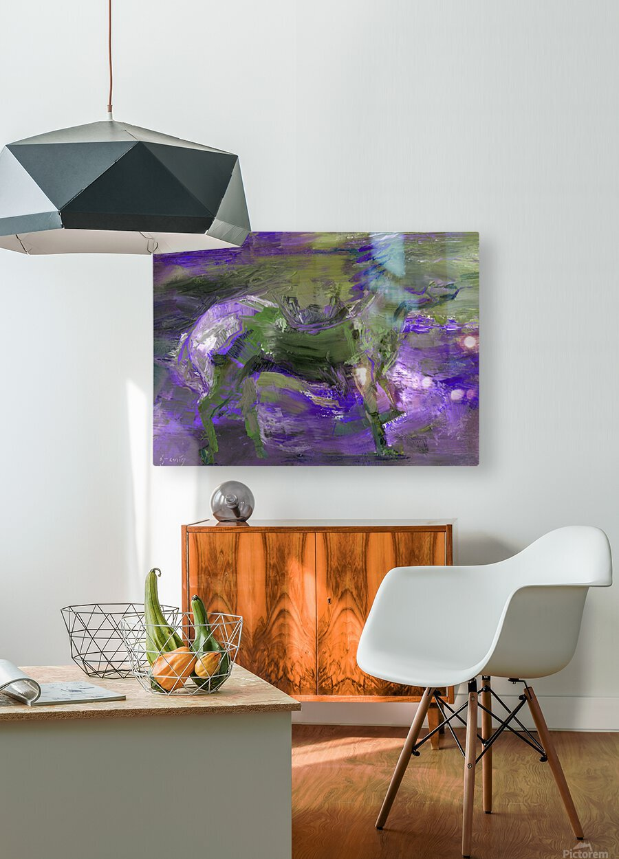 Ghost Rider - Violet  HD Metal print with Floating Frame on Back
