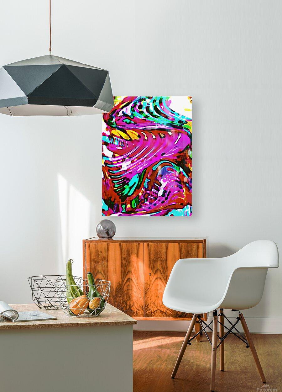 Lirium  HD Metal print with Floating Frame on Back