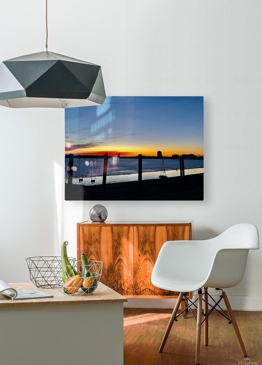 The City is My Playground  HD Metal print with Floating Frame on Back
