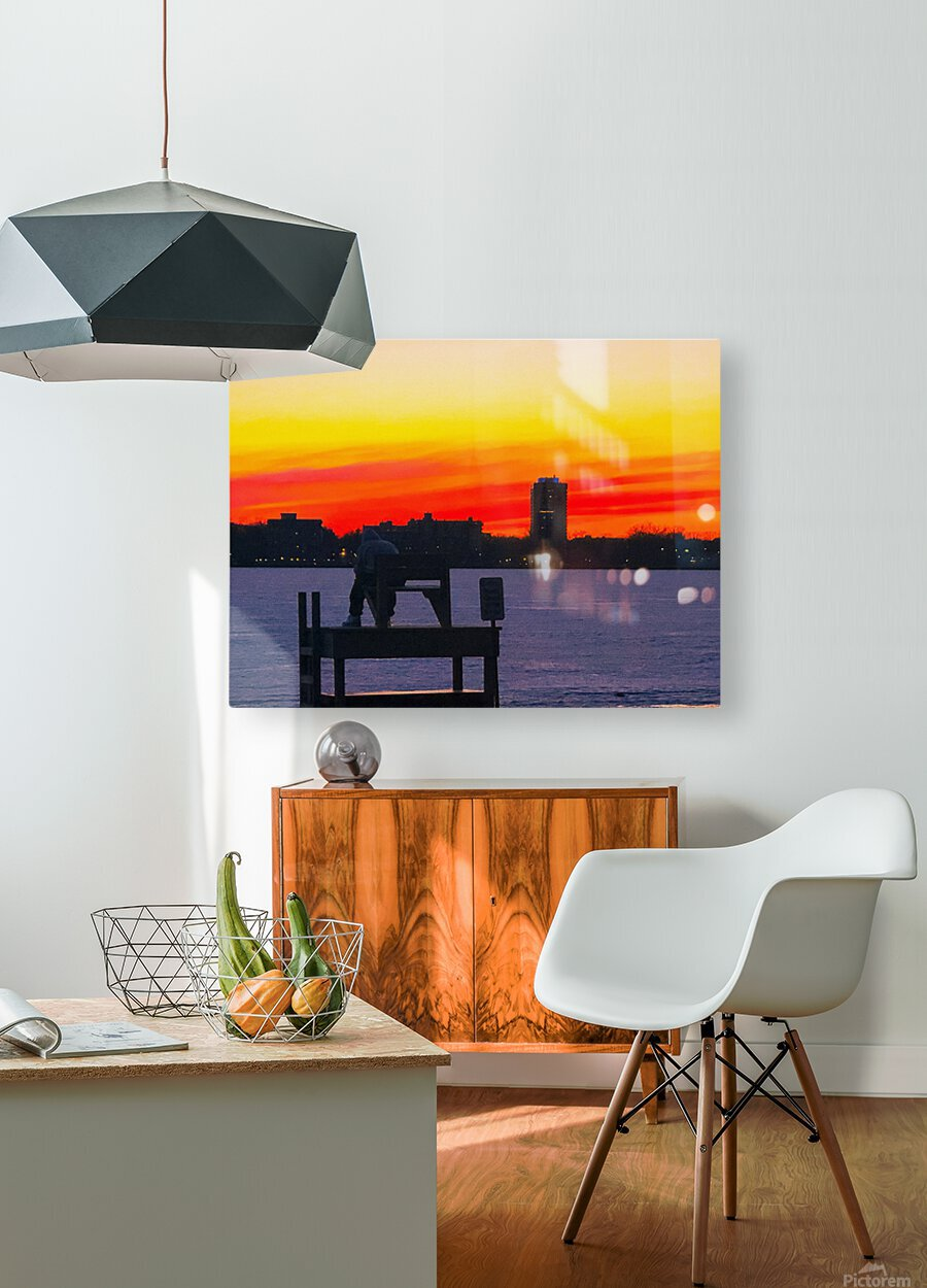 The Lifeguard   HD Metal print with Floating Frame on Back