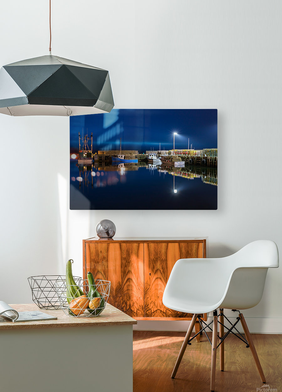 Night Time at the Wharf  HD Metal print with Floating Frame on Back