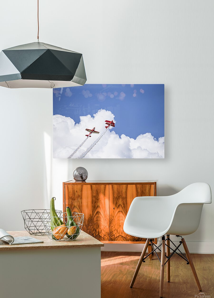 Red Against a Blue Sky  HD Metal print with Floating Frame on Back