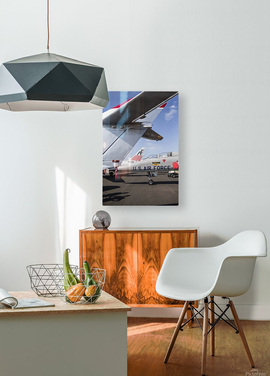 A Line of Planes  HD Metal print with Floating Frame on Back