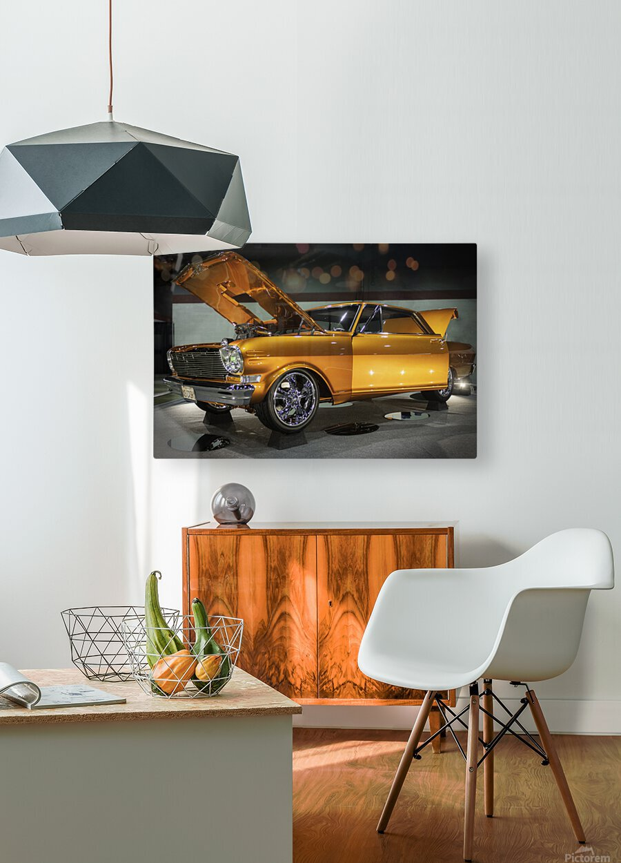 1966 Chevy II Nova  HD Metal print with Floating Frame on Back