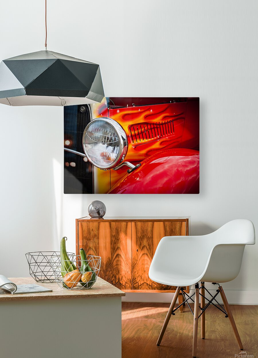Light the Flames  HD Metal print with Floating Frame on Back