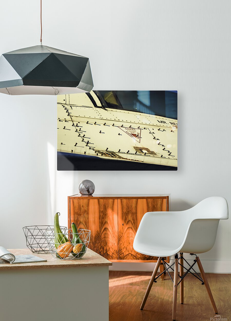 Danger Hatch  HD Metal print with Floating Frame on Back