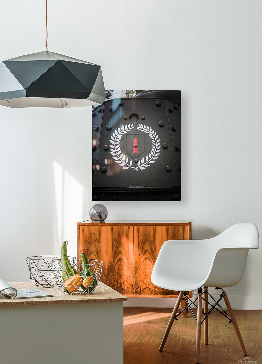 The first Division  HD Metal print with Floating Frame on Back
